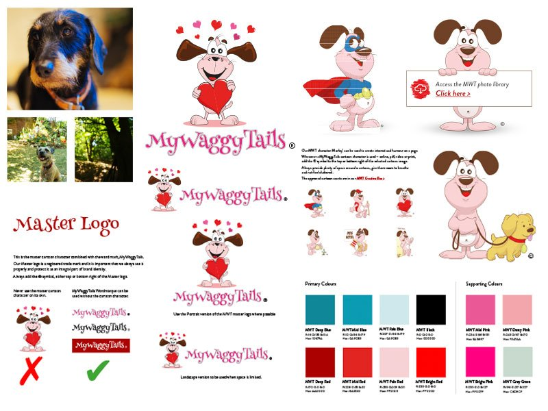 mywaggytails business branding