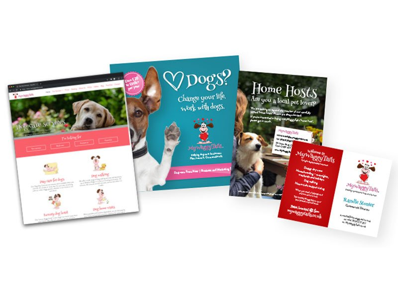 mywaggytails business promo materials